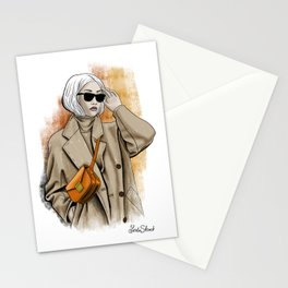 Fall fashion Stationery Cards