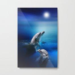 Dolphin Delight Metal Print