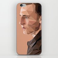 tom hiddleston iPhone & iPod Skins featuring Tom Hiddleston - Low Poly by khitkhat
