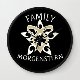 family morgenstern Wall Clock