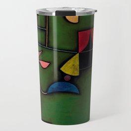 """Paul Klee """"Pflanze und Fenster Stilleben (Still life with Plant and Window)"""" Travel Mug"""