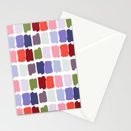 Artistic colorful watercolor paint brushstrokes palette Stationery Cards