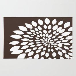 White Flower Rug