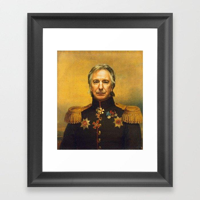Alan Rickman - replaceface Framed Art Print