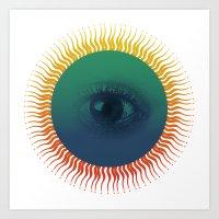 third eye Art Prints featuring Third Eye by ochre7