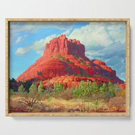 Big Bell Rock Sedona by Amanda Martinson Serving Tray