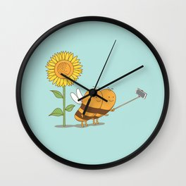 BFF wefie Wall Clock