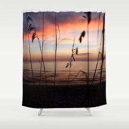 Sunset Sea Grass Shower Curtain
