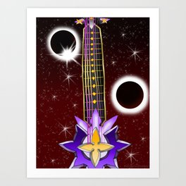 Fusion Keyblade Guitar #129 - Total Eclipse & Saix's Claymore Art Print