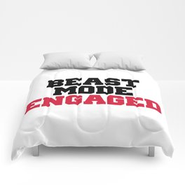 Beast Mode Engaged Gym Quote Comforters