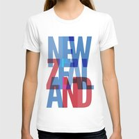new zealand T-shirts featuring New Zealand by Feb Studios