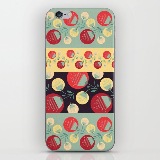 50's floral pattern iPhone & iPod Skin