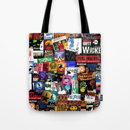 Musicals Collage Tote Bag