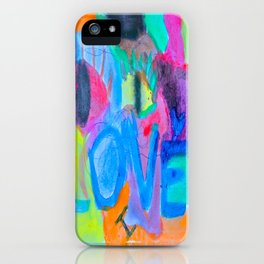 Summer Love   Painting by Elisavet iPhone Case