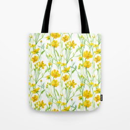 Yellow Field flowers Tote Bag