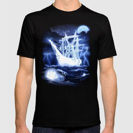 """""""High-Voltage Ghost Ship"""" T-shirt"""