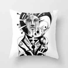 Pencil Sketch Throw Pillow
