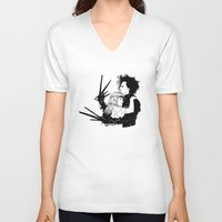 edward scissorhands V-neck T-shirts featuring Edward Scissorhands by Gregory Casares