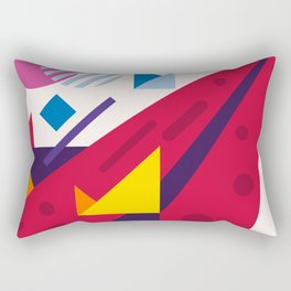 Abstract modern geometric background. Composition 18 Rectangular Pillow