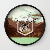 canada Wall Clocks featuring CANADA by Anna Trokan