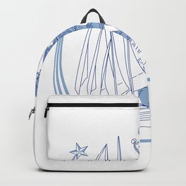Yacht Club Racing Trophy Cup Drawing Backpack