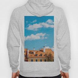 Medieval Houses Of Sibiu City In Romania, Urban Skyline, Architecture Photo, Travel Wall Art Print Hoody