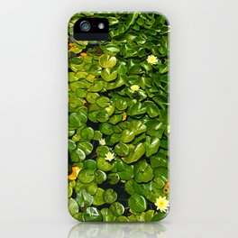 Lilly Pads Green Gradient Bloom iPhone Case