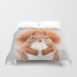Squirrel 2 - Colorful Duvet Cover