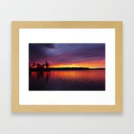 Belmont Lake Framed Art Print