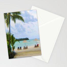 A Dreamy Day at a Tahitian Beach, Bora Bora Stationery Cards