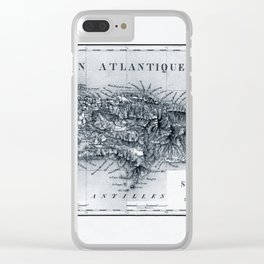 Map Of Haiti 1826 Clear iPhone Case