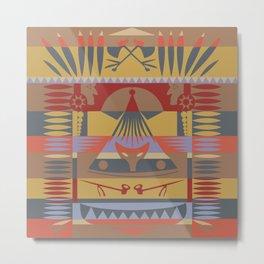 American Native Pattern No. 73 Metal Print