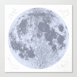 Full Moon Print (blue), by Christy Nyboer Canvas Print