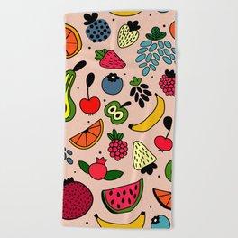 Fruity pattern Beach Towel