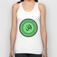 islam Tank Tops featuring Black And Green Islam Religious Symbol by ArtOnWear