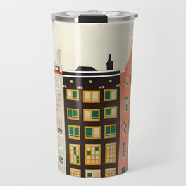 Travel europe city shape abstract art Travel Mug