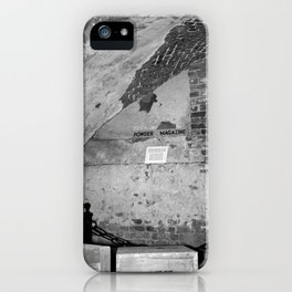 Powder Magazine B&W iPhone Case