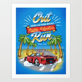 Racing Adventure Art Print
