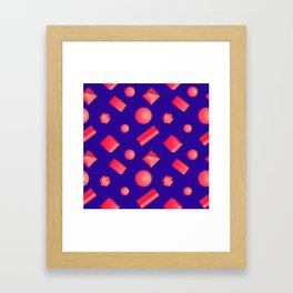 Colorful pattern of geometric shapes. Framed Art Print