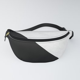 Marble And Black Diagonal Fanny Pack