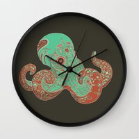 camouflage Wall Clocks featuring Camouflage by Mikael Biström