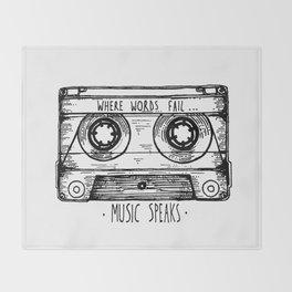 Where Words Fail, Music Speaks Throw Blanket