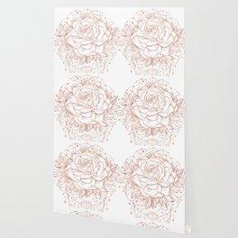 Mandala Lunar Rose Gold Wallpaper