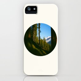 Mid Century Modern Round Circle Photo Secret Forest Hill iPhone Case