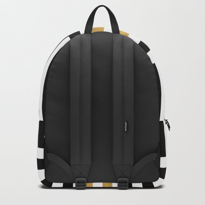 Simple Geometric Cross Pattern- White Gold on Black -Mix & Match with Simplicity of life Backpack