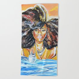 lost without u Beach Towel