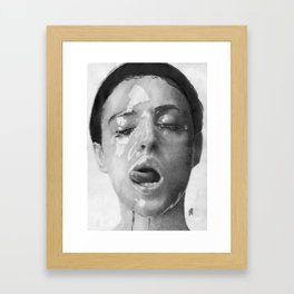 Monica Bellucci Traditional Portrait Print Framed Art Print
