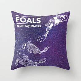 Foals Night Swimmers Throw Pillow