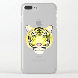 Golden Tiger Clear iPhone Case