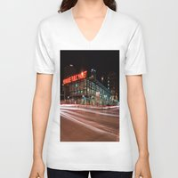milwaukee V-neck T-shirts featuring Milwaukee Public Market by Jonah Anderson